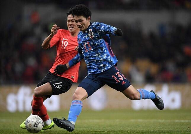 2019年EAFF E-1選手権の日韓戦(写真:AFP/アフロ)