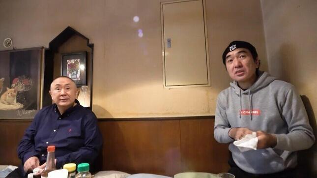 江頭2:50さんが松村邦洋さんと語り合った(エガちゃんねる EGA-CHANNELより)。