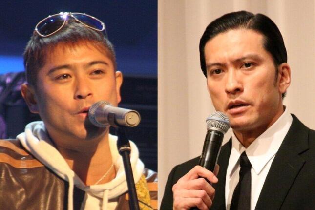 山口達也さん(2010年撮影)、長瀬智也さん(2018年撮影)