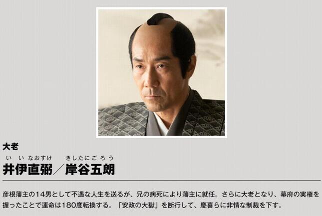 岸谷五朗さんが井伊直弼を演じる(NHK「青天を衝け」公式サイトより)