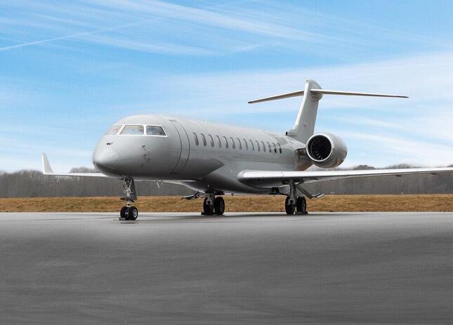 ボンバルディア・グローバル7500型機の航続距離は1万4260キロにおよび、米西海岸にノンストップで行くこともできる(c)双日