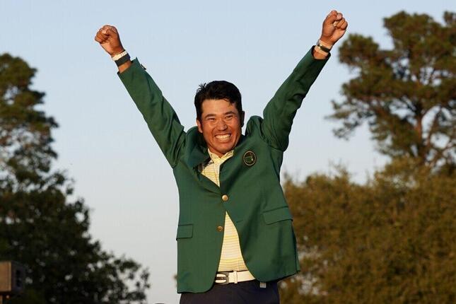 マスターズで優勝した松山英樹(写真:AP/アフロ)