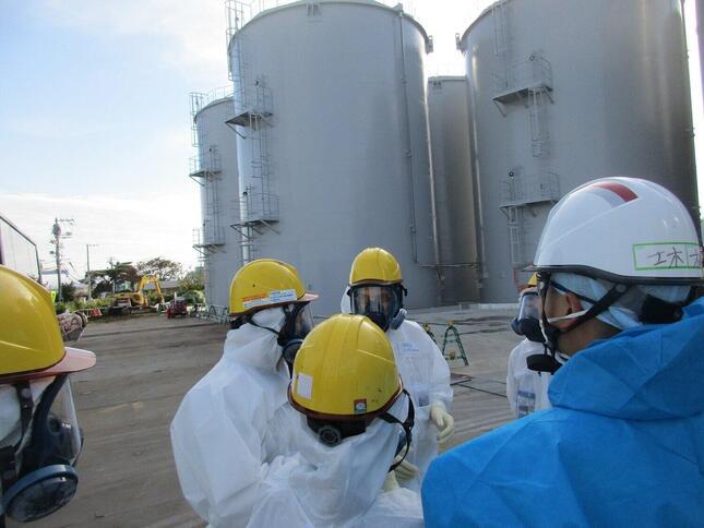 東京電力福島第1原発の処理水扱いで周辺諸国が反発している(写真は東京電力撮影)