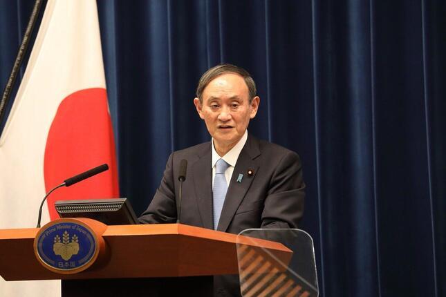 2021年版の「報道の自由度ランキング」では、菅義偉首相について「報道の自由をめぐる環境を改善するために何もしていない」と批判した(2021年2月撮影)