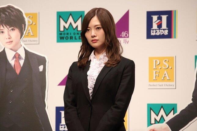 白石麻衣さん(2018年2月撮影)