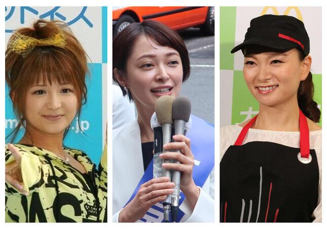 矢口真里さん、市井紗耶香さん、保田圭さん/安田さんの写真:つのだよしお/アフロ