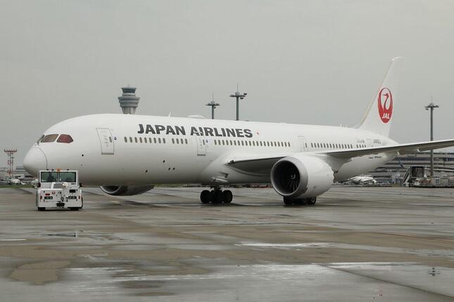ロンドン行きのJL43便はボーイング787-9型機で運航されている