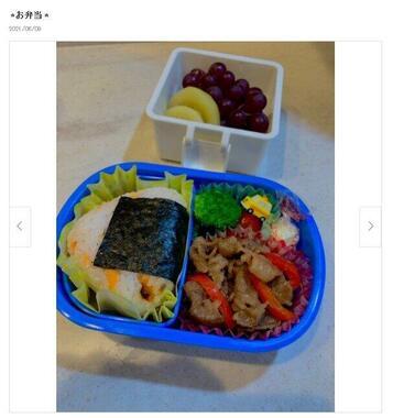 小倉優子さんの公開したお弁当(本人のブログより)