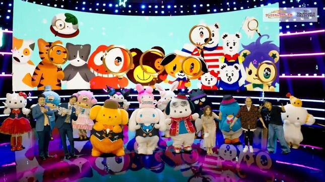 「サンリオキャラクター大賞」結果発表会には芸能人も多数出演 (C)'21 SANRIO   S/F・G  SP-M  著作(株)サンリオ