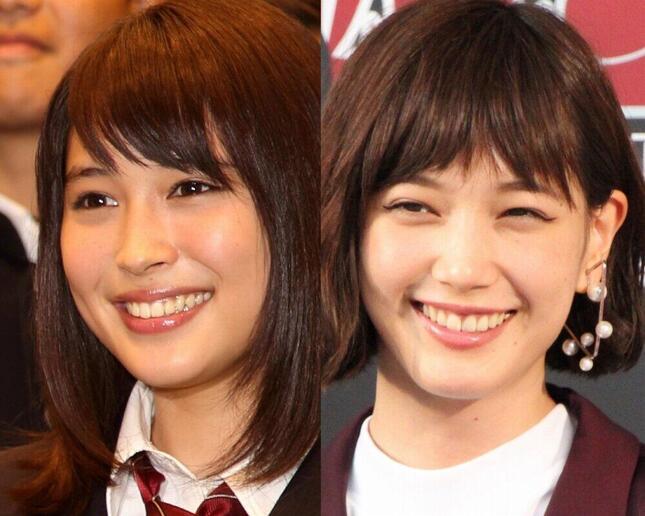 左から広瀬アリスさん(2015年)、本田翼さん(2017年)