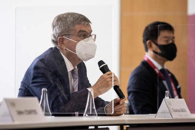 IOCバッハ会長(写真:代表撮影/ロイター/アフロ)