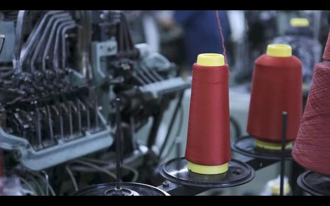 靴下の生産風景(提供:タビオ)