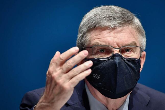 バッハ会長(写真:AFP/アフロ)