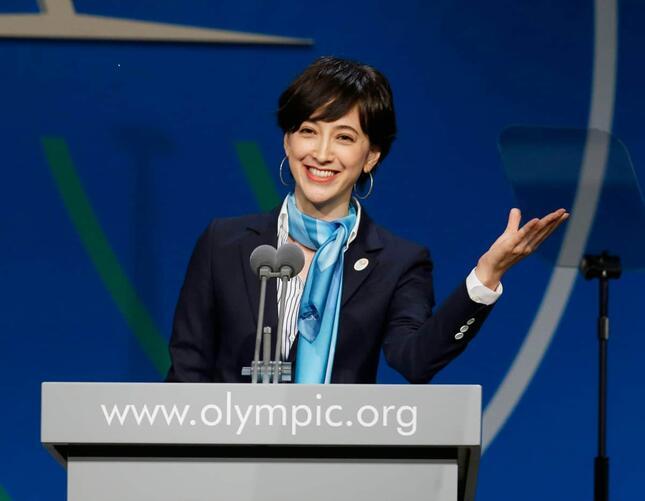 2013年の五輪招致プレゼンに立つ滝川クリステルさん(写真:AP/アフロ)