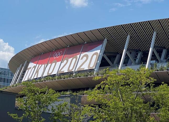 国立競技場(2021年7月撮影)