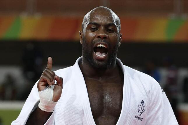 柔道フランス代表のテディ・リネール選手(写真:AFP/アフロ)