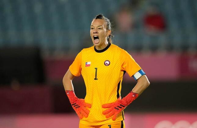 サッカー女子・チリ代表GKのクリスティアネ・エンドレル(写真:AP/アフロ)