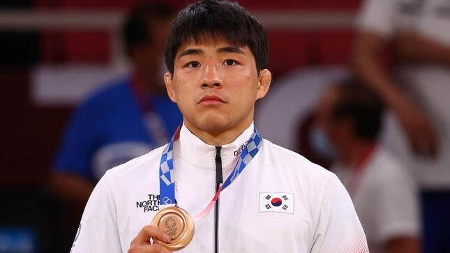 柔道男子73キロ級銅メダルの安昌林(写真:ロイター/アフロ)