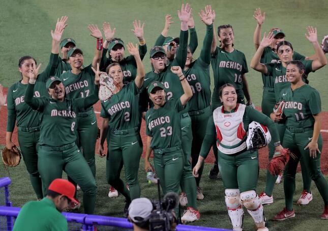 ソフトボールメキシコ代表選手たち(写真:AFP/アフロ)
