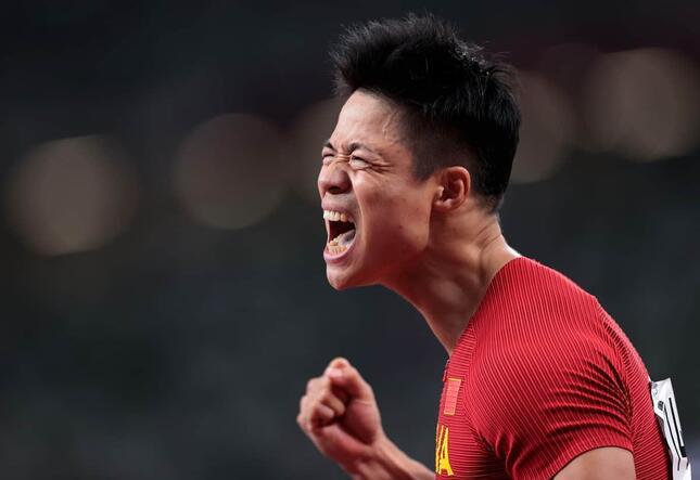 100mアジア新の蘇炳添(写真:新華社/アフロ)