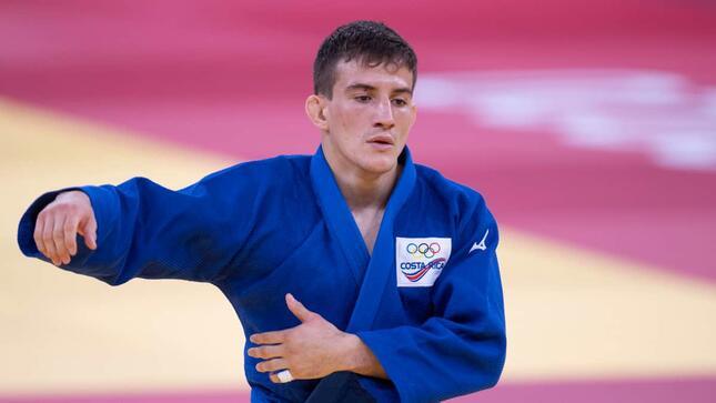 柔道66キロ級コスタリカ代表のイアン・サンチョチンチラ選手(写真:AP/アフロ)