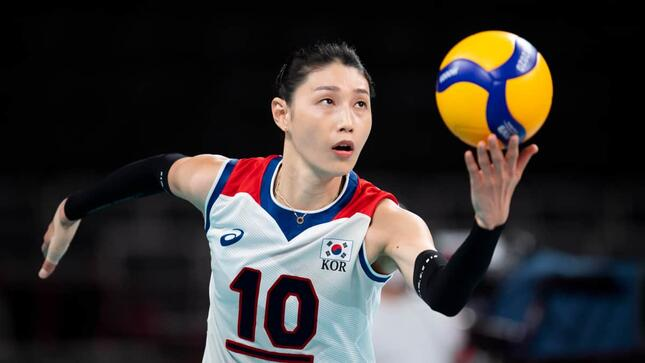 韓国代表・金軟景選手(写真:AP/アフロ)