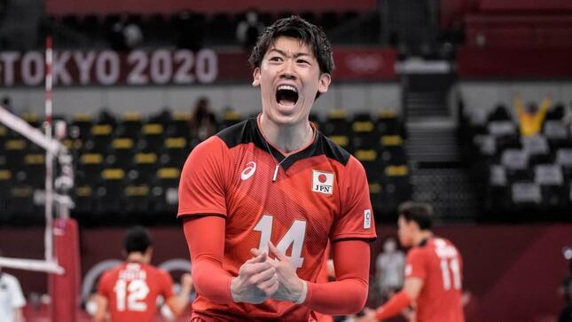 石川祐希選手(写真:AP/アフロ)