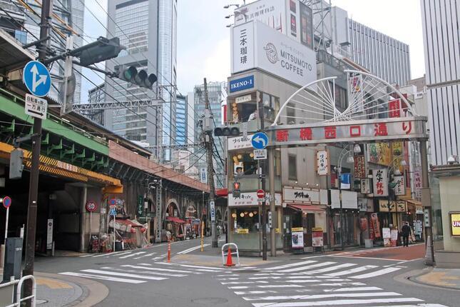 近くにPCR検査所があるJR新橋駅