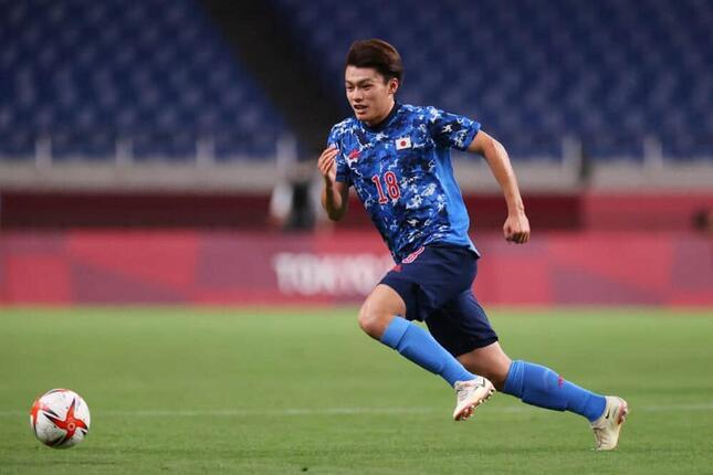 U-24日本代表の上田綺世選手(写真:森田直樹/アフロスポーツ)