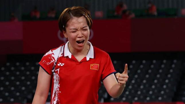 中国代表・陳清晨(写真:ロイター/アフロ)