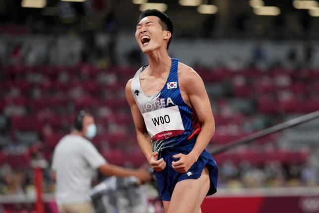 韓国走り高跳び代表・禹相赫(写真:AP/アフロ)
