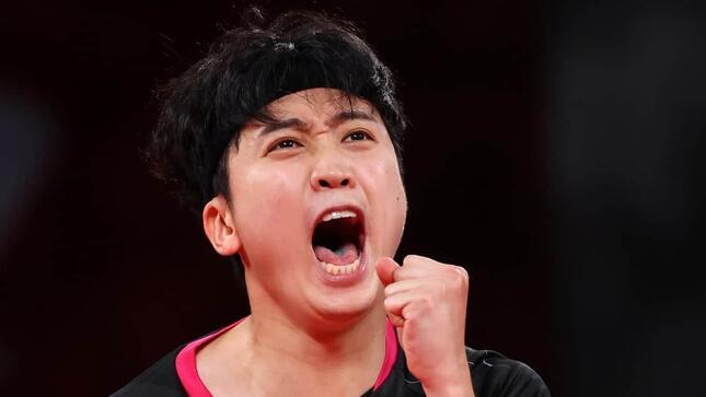 鄭栄植選手(写真:ロイター/アフロ)