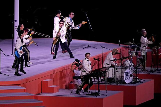 東京スカパラダイスオーケストラが登場(写真:USA TODAY Sports/ロイター/アフロ)