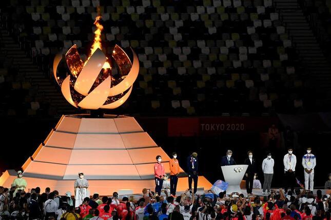 東京五輪の閉会式(写真:AFP/アフロ)
