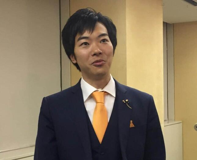 音喜多駿議員(写真は2017年10月撮影)