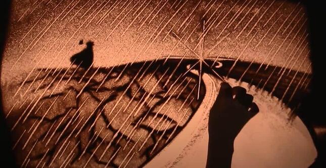 kisatoさんのサンドアート(天地創造20周年記念動画より)