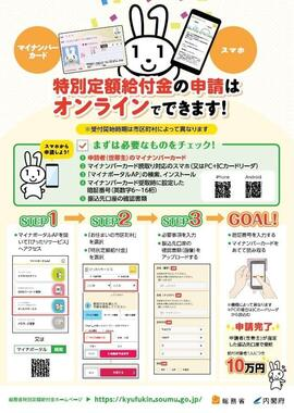 詐欺メールに流用された「特別定額給付金」の公式画像(京都・京丹波町公式サイトより)