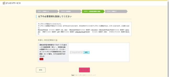 詐欺メールのリンク先、偽の特設サイト