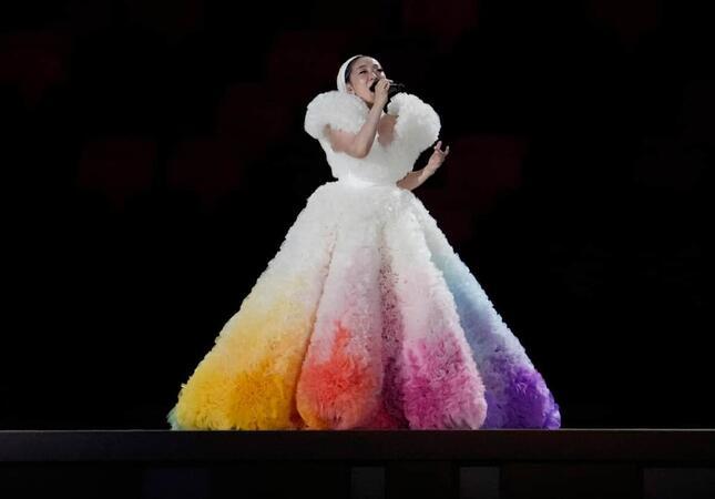 五輪開会式で歌うMISIAさん(写真:USA TODAY Sports/ロイター/アフロ)