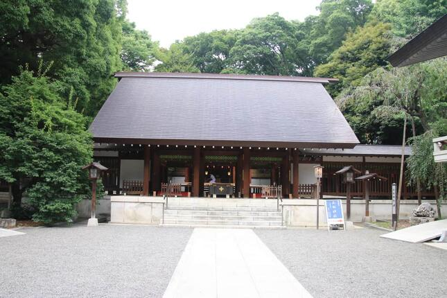 東京都港区赤坂にある乃木神社。中国人俳優が同神社で行われた結婚式に出席したとして強い批判を受けた