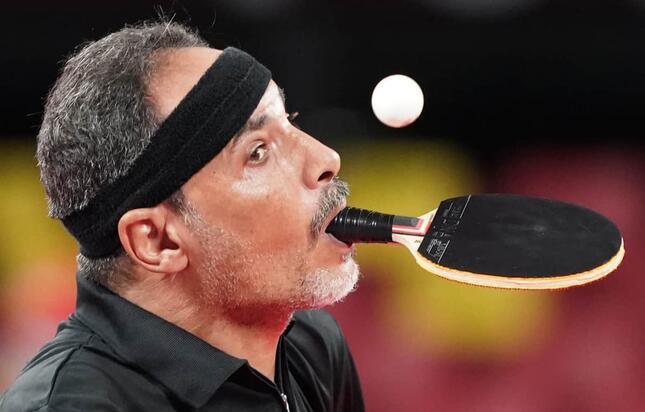 パラ卓球のイブラヒム・ハマト選手(写真:picture alliance/アフロ)