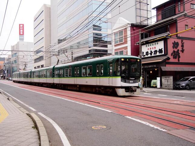 8月中旬に大雨による被害を受けた京阪京津線