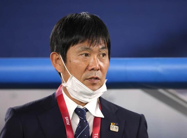 日本代表の森保監督(写真:ロイター/アフロ)