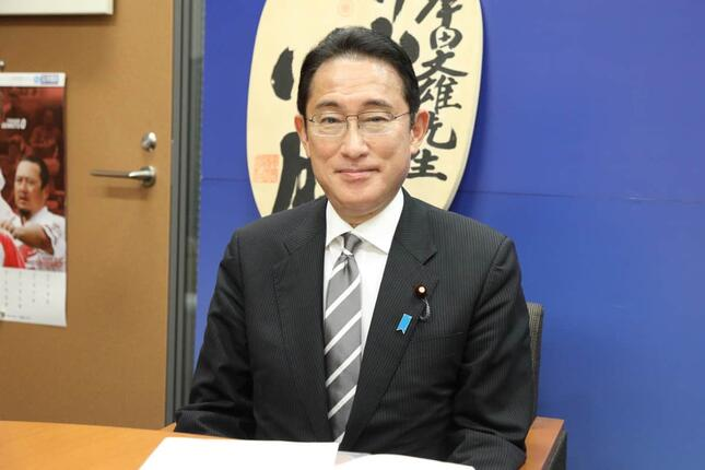 J-CASTニュースの取材に応じる自民党の岸田文雄衆院議員
