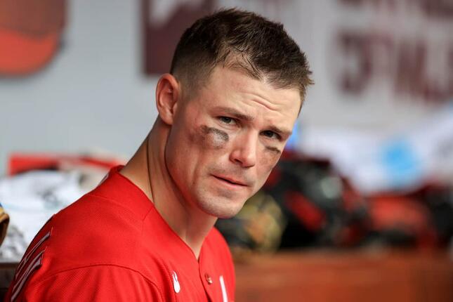 スコット・ハイネマン外野手(2021年6月、写真:AP/アフロ)
