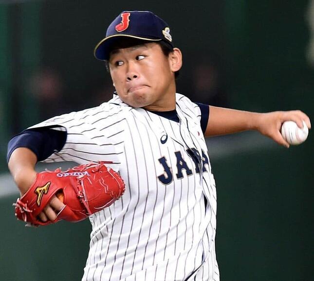 田口麗斗投手(写真:AFP/アフロ)
