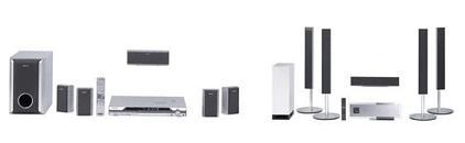 ソニーが発売するホームシアターシステム2機種『DAV-DZ110』(左)『DAV-LF1H』(右)