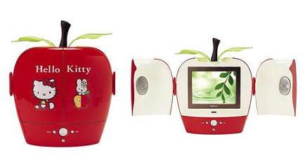 サンリオが発売する「ハローキティーアップル型液晶カラーテレビ」