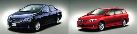 トヨタが発売した「カローラアクシオ ラグゼール」(左)と「カローラフィールダー」(右)