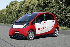 """三菱汽车等正在研发的新一代电动汽车""""MiEV"""""""
